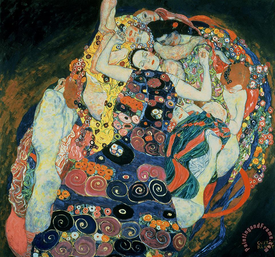 The Maiden painting - Gustav Klimt The Maiden Art Print