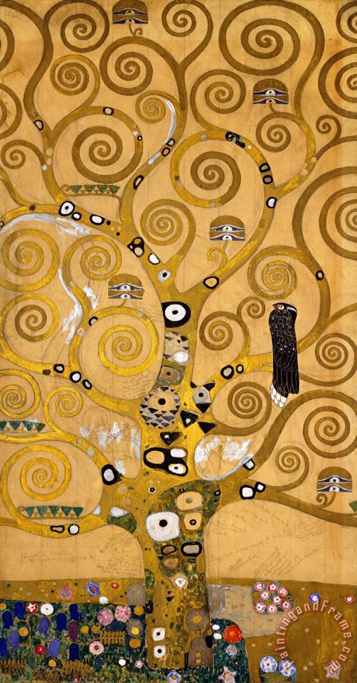 Gustav Klimt Tree Of Life Art Print