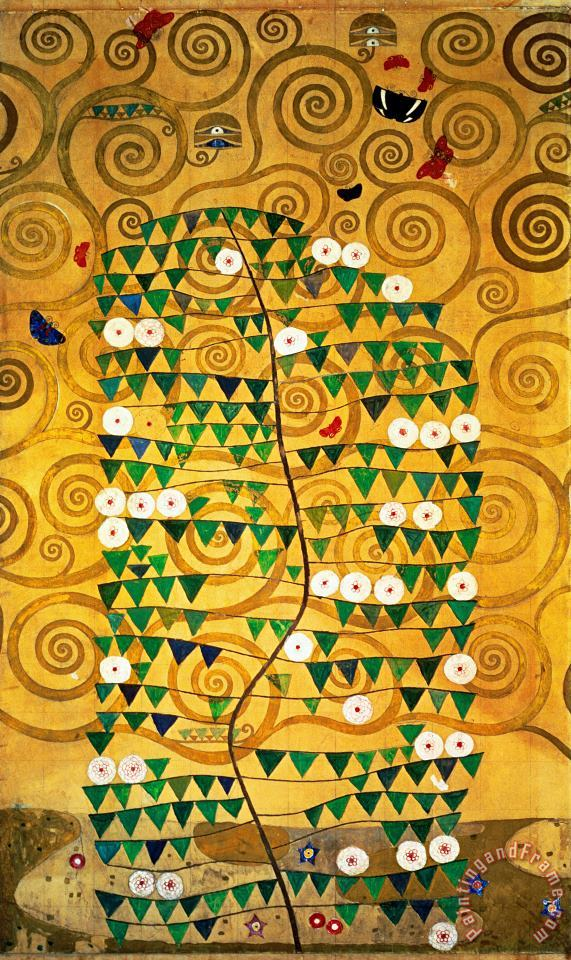 Gustav Klimt Tree of Life Stoclet Frieze Art Print