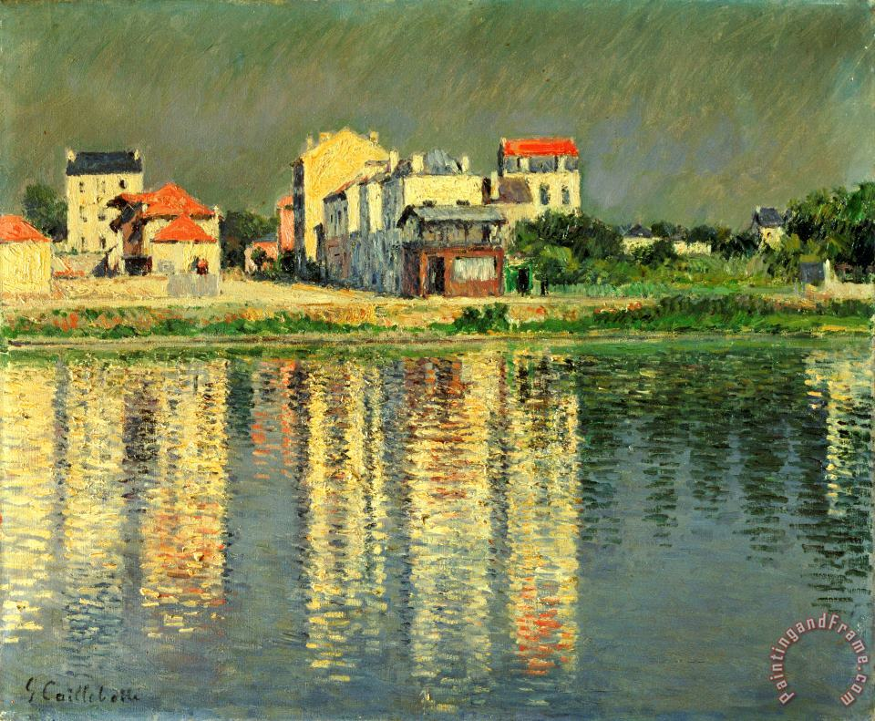 Banks of the Seine at Argenteuil painting - Gustave Caillebotte Banks of the Seine at Argenteuil Art Print