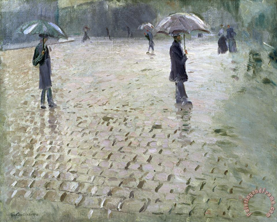 Study for a Paris Street Rainy Day painting - Gustave Caillebotte Study for a Paris Street Rainy Day Art Print