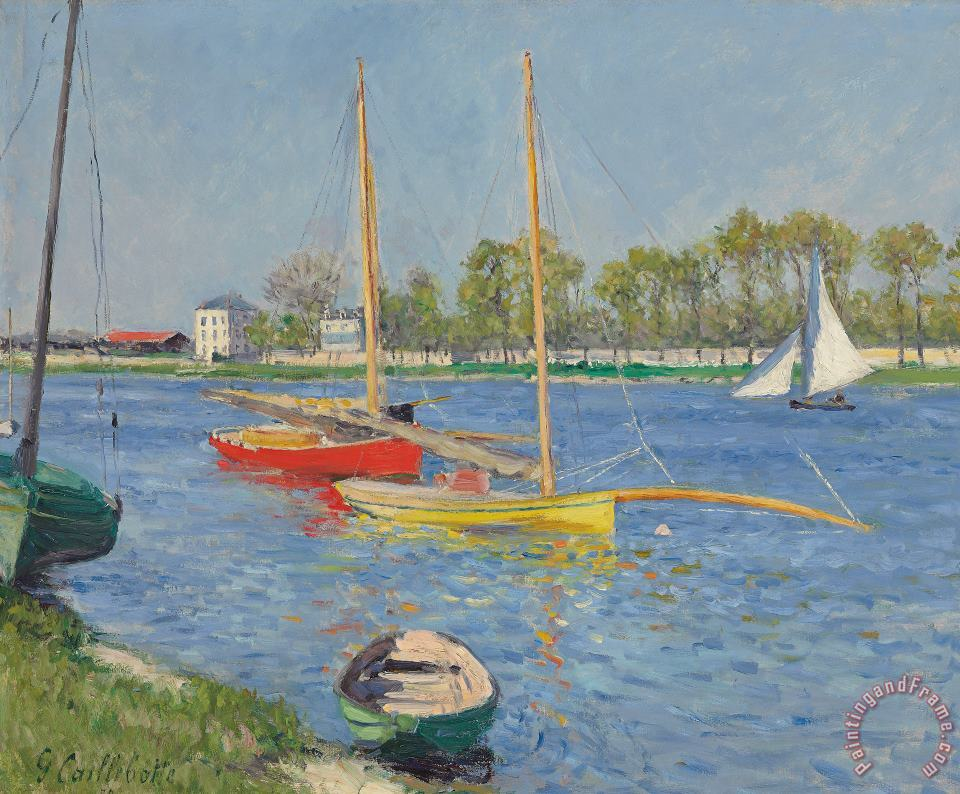 The Seine at Argenteuil painting - Gustave Caillebotte The Seine at Argenteuil Art Print