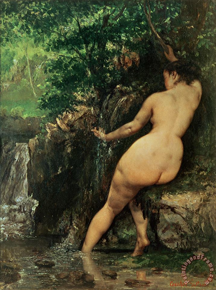 The Source or Bather at the Source painting - Gustave Courbet The Source or Bather at the Source Art Print