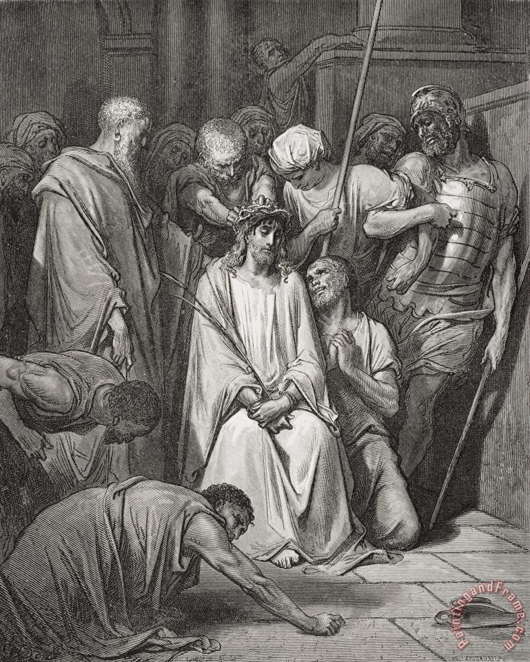 Gustave Dore The Crown Of Thorns Art Painting