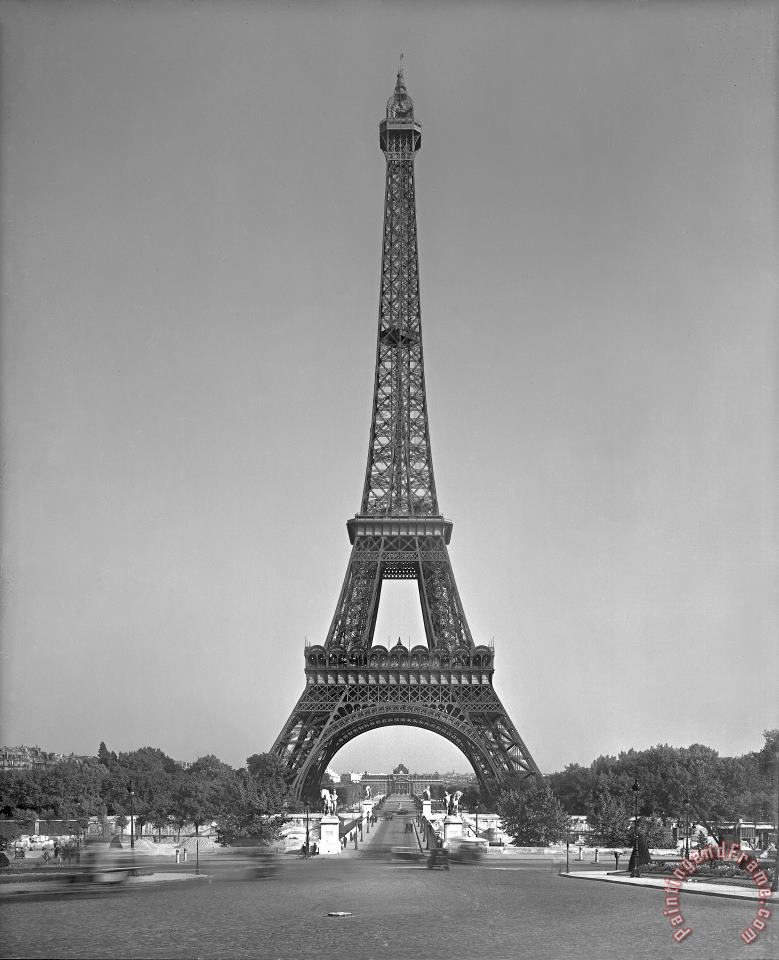 The Eiffel tower painting - Gustave Eiffel The Eiffel tower Art Print