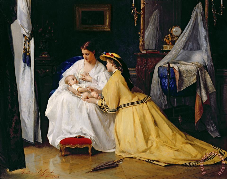 First Born painting - Gustave Leonard de Jonghe First Born Art Print