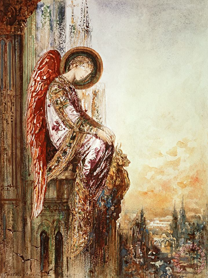 Angel Traveller painting - Gustave Moreau Angel Traveller Art Print