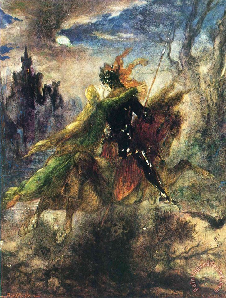 Gustave Moreau The Ballad Art Painting