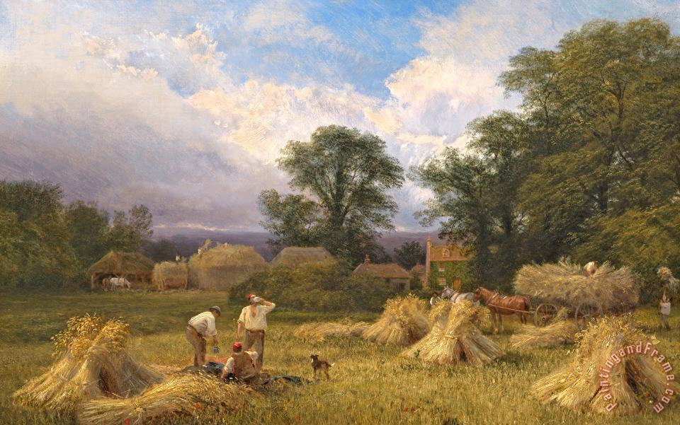 Harvest Time painting - GV Cole Harvest Time Art Print