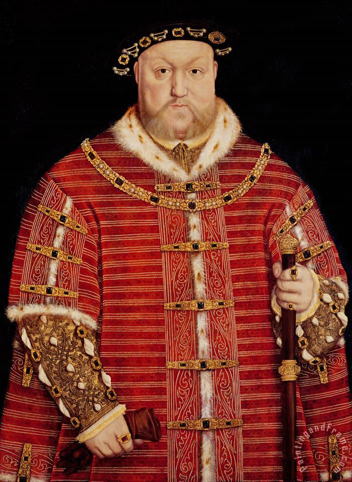 Portrait of Henry VIII painting - Hans Holbein the Younger Portrait of Henry VIII Art Print