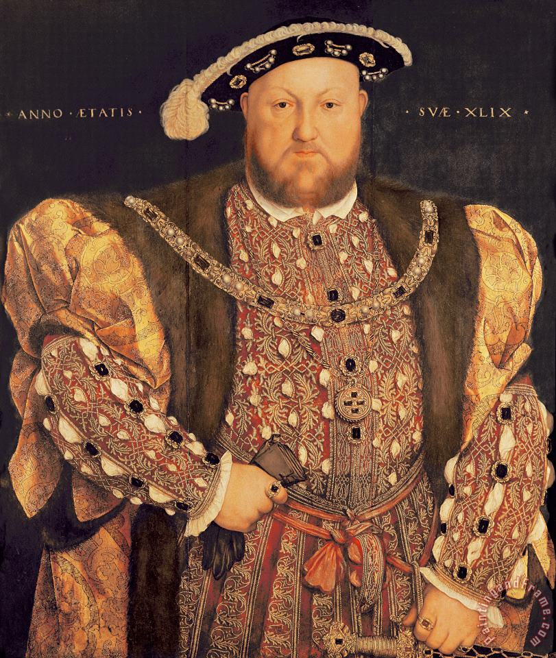 Portrait of Henry VIII (1491 1547) Aged 49 painting - Hans Holbein the Younger Portrait of Henry VIII (1491 1547) Aged 49 Art Print