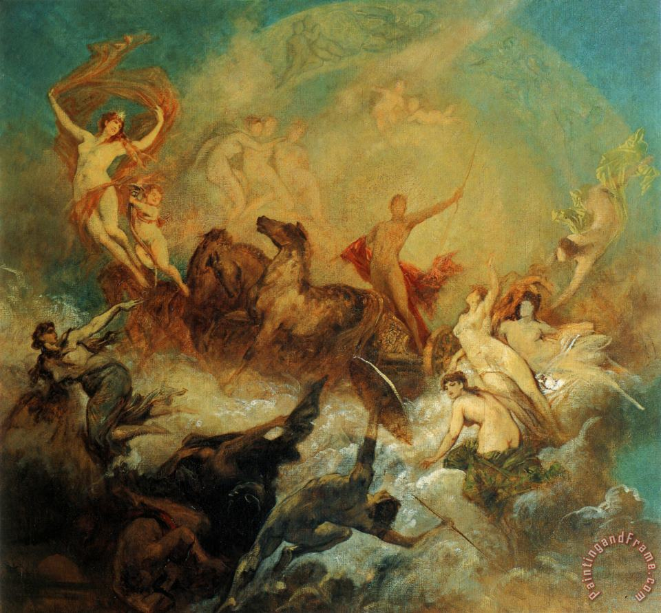 The Victory of Light Over Darkness painting - Hans Makart The Victory of Light Over Darkness Art Print