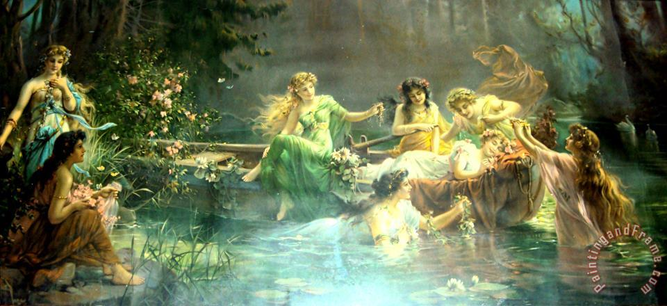 Untitled3 painting - Hans Zatzka Untitled3 Art Print