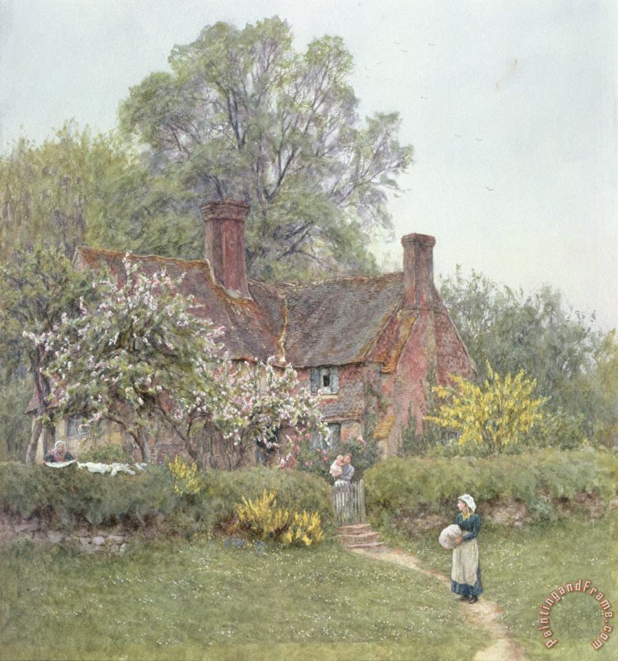 Cottage at Chiddingfold painting - Helen Allingham Cottage at Chiddingfold Art Print