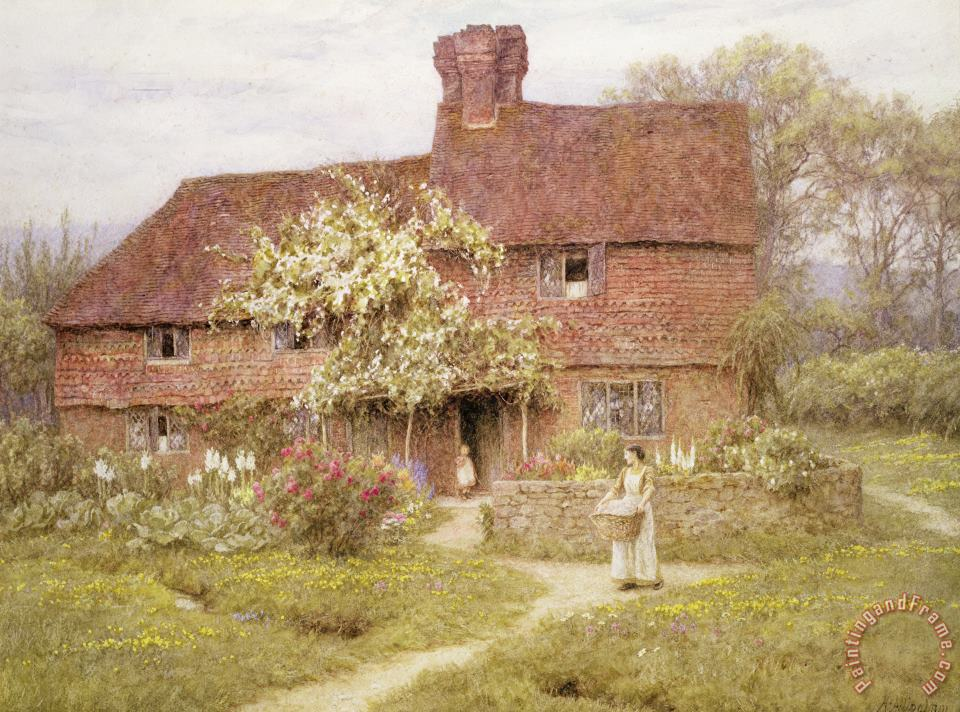 Helen Allingham Rose Cottage Art Painting
