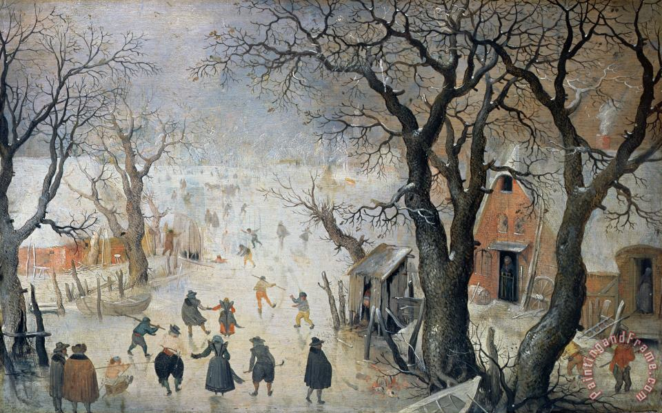 Winter Scene painting - Hendrik Avercamp Winter Scene Art Print