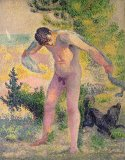 Bather drying himself at St Tropez by Henri-Edmond Cross