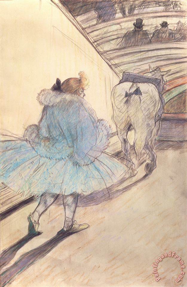 Henri de Toulouse-Lautrec At The Circus Entering The Ring Art Print