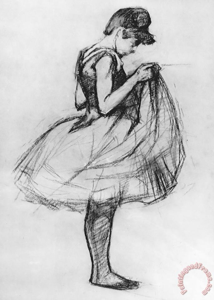 Dancer Adjusting Her Costume And Hitching Up Her Skirt painting - Henri de Toulouse-Lautrec Dancer Adjusting Her Costume And Hitching Up Her Skirt Art Print