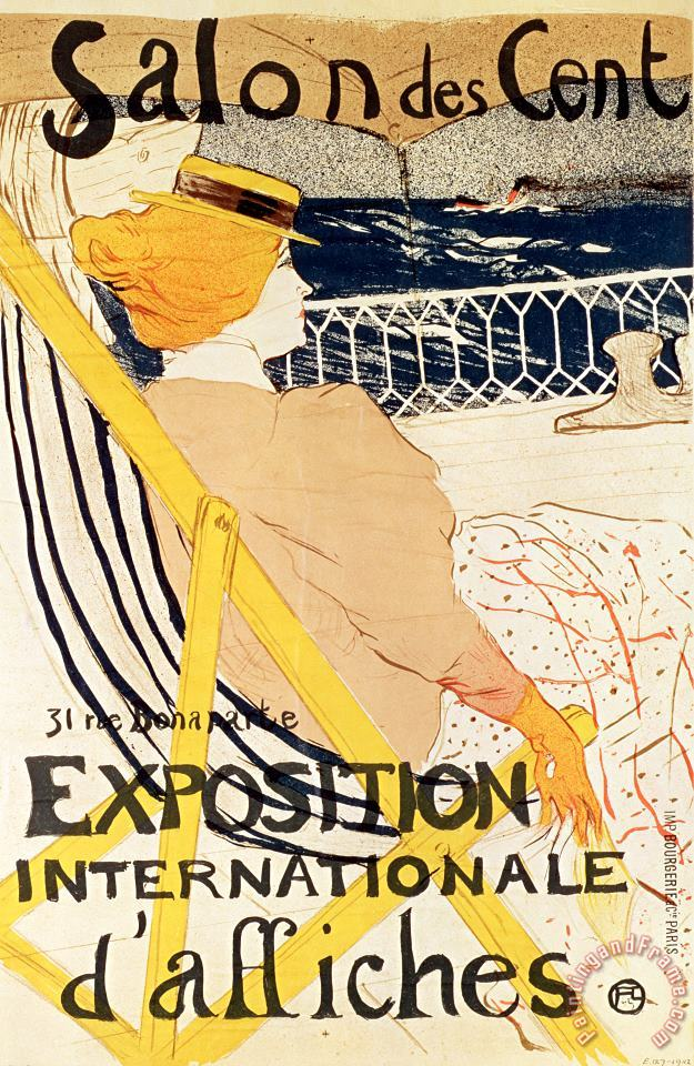 Poster advertising the Exposition Internationale dAffiches Paris painting - Henri de Toulouse-Lautrec Poster advertising the Exposition Internationale dAffiches Paris Art Print