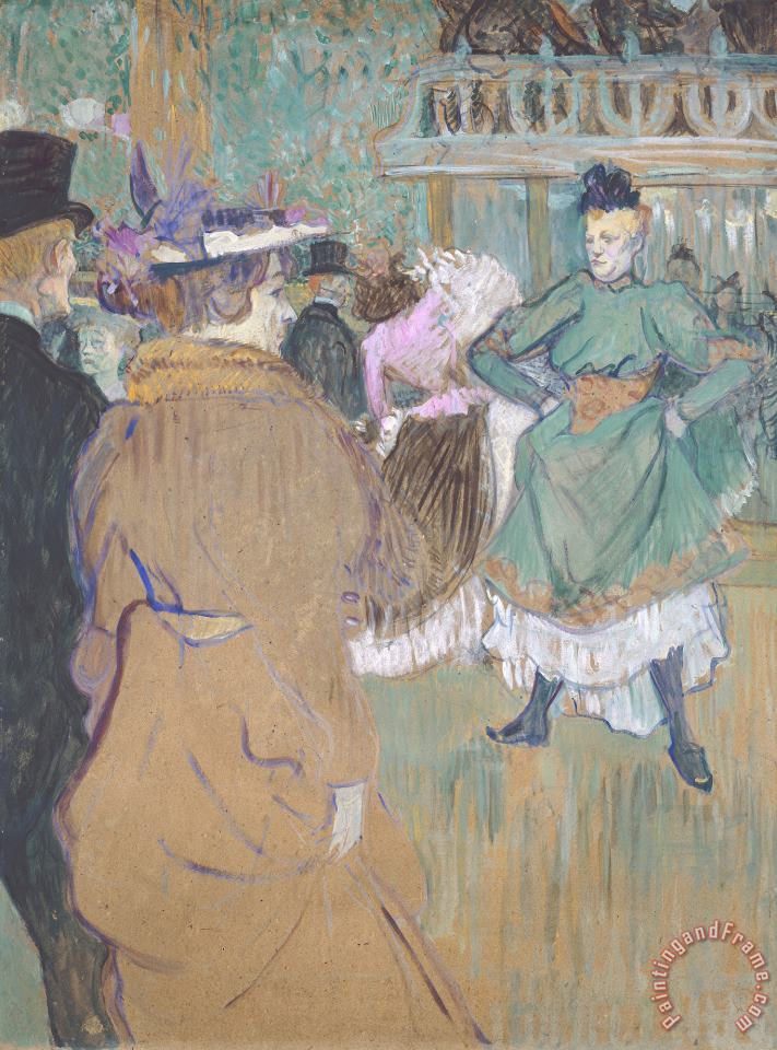 Quadrille at The Moulin Rouge painting - Henri de Toulouse-Lautrec Quadrille at The Moulin Rouge Art Print