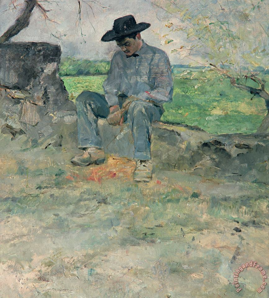 Young Routy At Celeyran painting - Henri de Toulouse-Lautrec Young Routy At Celeyran Art Print