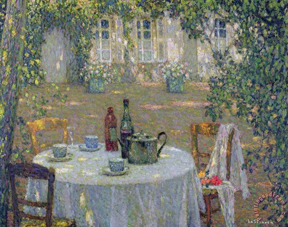 Henri Le Sidaner The Table in the Sun in the Garden Art Print