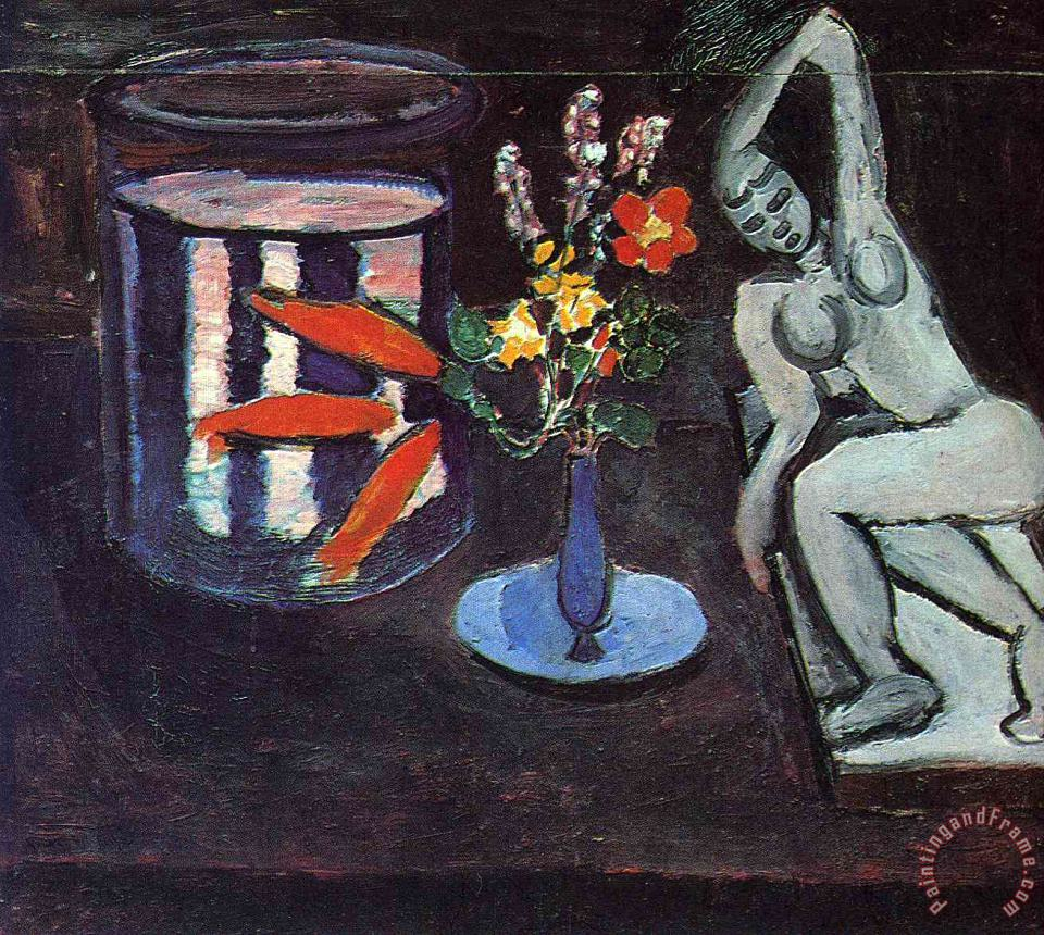 Fish Tank in The Room 1912 painting - Henri Matisse Fish Tank in The Room 1912 Art Print