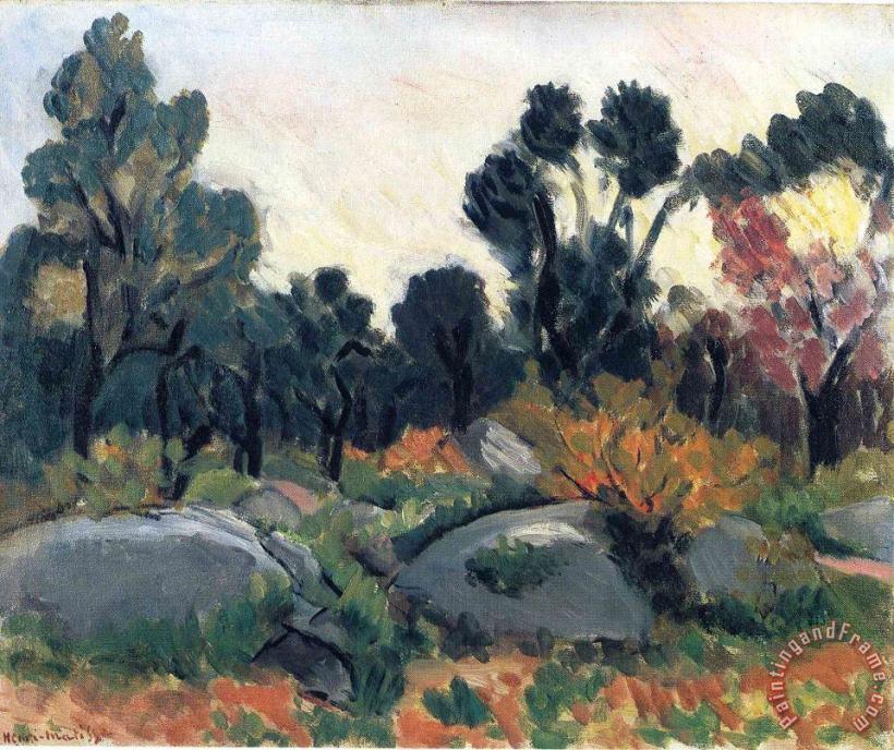 Henri Matisse Landscape 3 painting   Landscape 3 print for ...