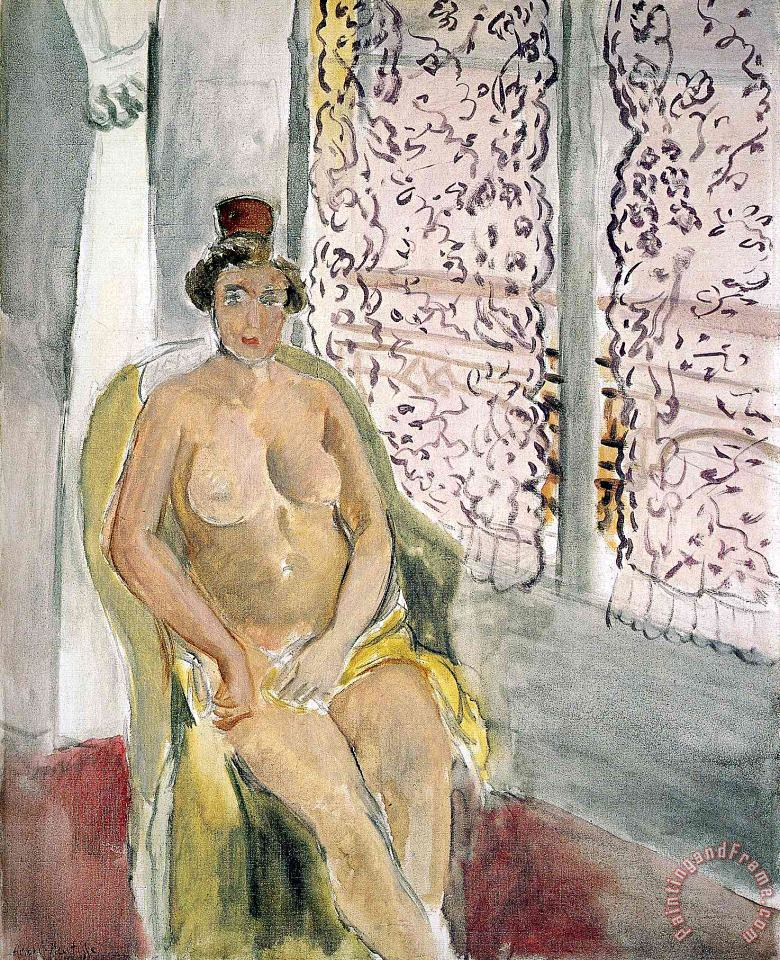 Nude in a Chair painting - Henri Matisse Nude in a Chair Art Print