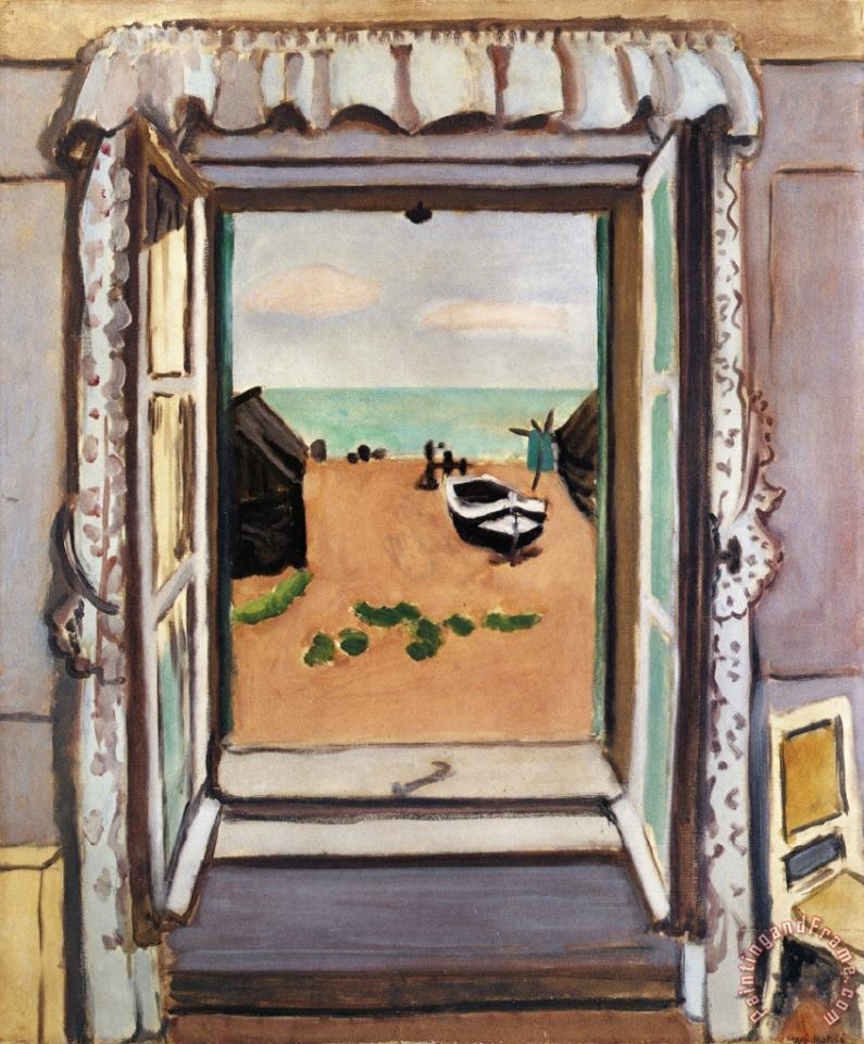 Open Window Etretat 1920 painting - Henri Matisse Open Window Etretat 1920 Art Print
