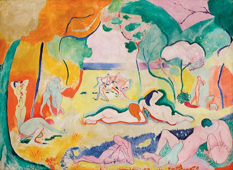 The Joy of Life 1906 painting - Henri Matisse The Joy of Life 1906 Art Print