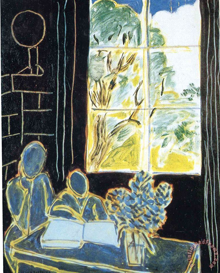 The Silence That Lives in Houses 1947 painting - Henri Matisse The Silence That Lives in Houses 1947 Art Print
