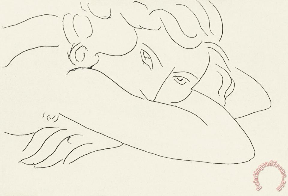 Henri Matisse Young Woman with Face Buried in Arms (jeune Femme Le Visage Enfoui Dans Les Bras) Art Painting