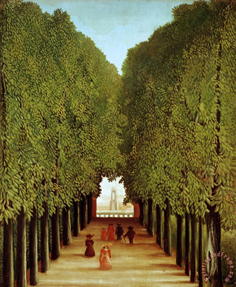 Henri Rousseau Alleyway in the Park Art Print