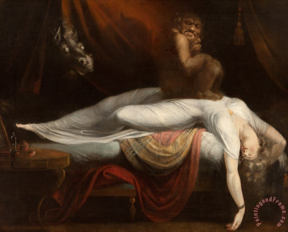 The Nightmare painting - Henry Fuseli The Nightmare Art Print