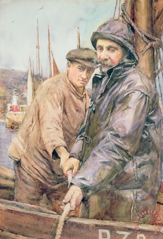 Henry Meynell Rheam Hauling In The Net Art Print