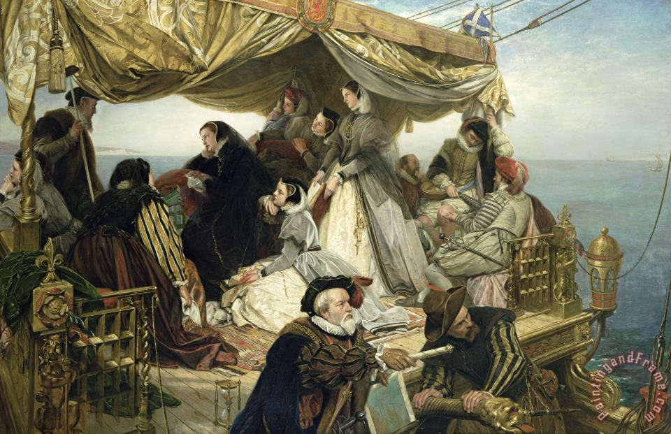 Mary Stuart's Farewell to France painting - Henry Nelson O Neil Mary Stuart's Farewell to France Art Print