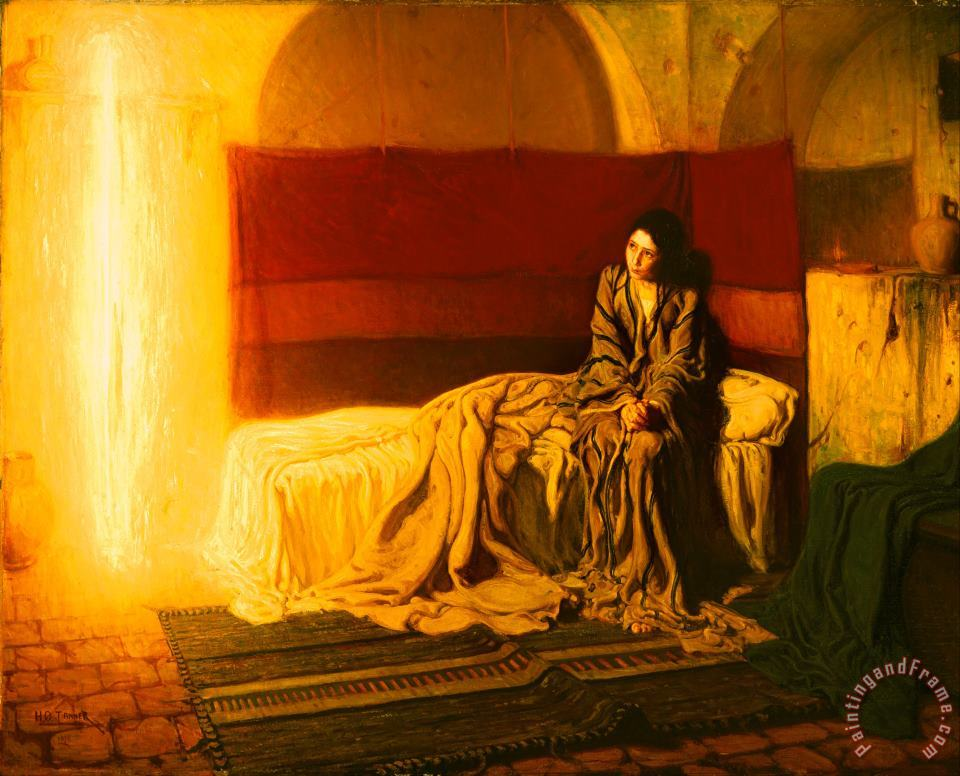 The Annunciation painting - Henry Ossawa Tanner The Annunciation Art Print