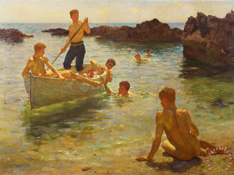 Morning Splendour painting - Henry Scott Tuke Morning Splendour Art Print