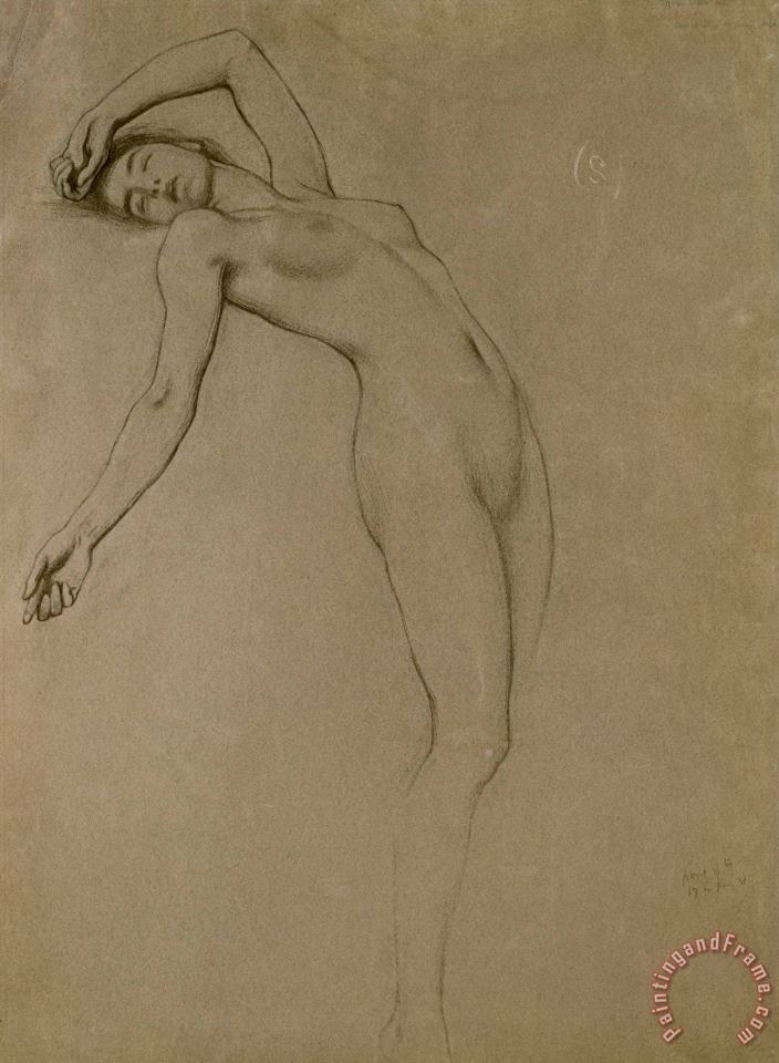 Study for Clyties of the Mist painting - Herbert James Draper Study for Clyties of the Mist Art Print
