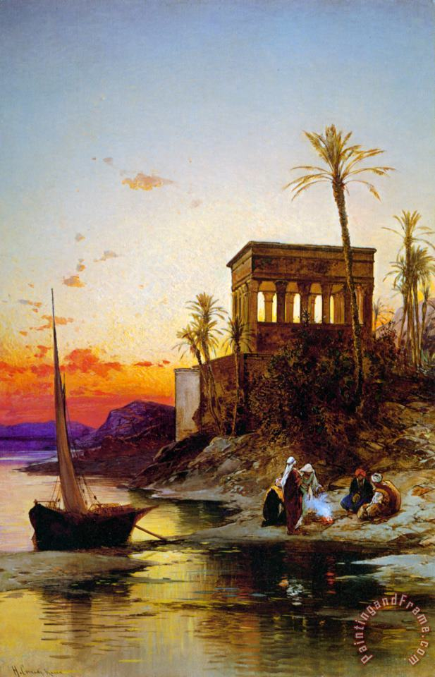 Hermann David Solomon Corrodi Kiosk of Trajan Philae on The Nile Art Painting