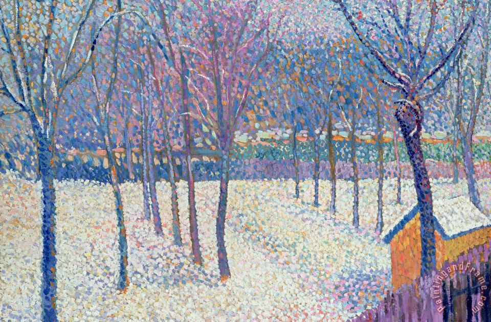 Hippolyte Petitjean The Orchard Under The Snow Art Print