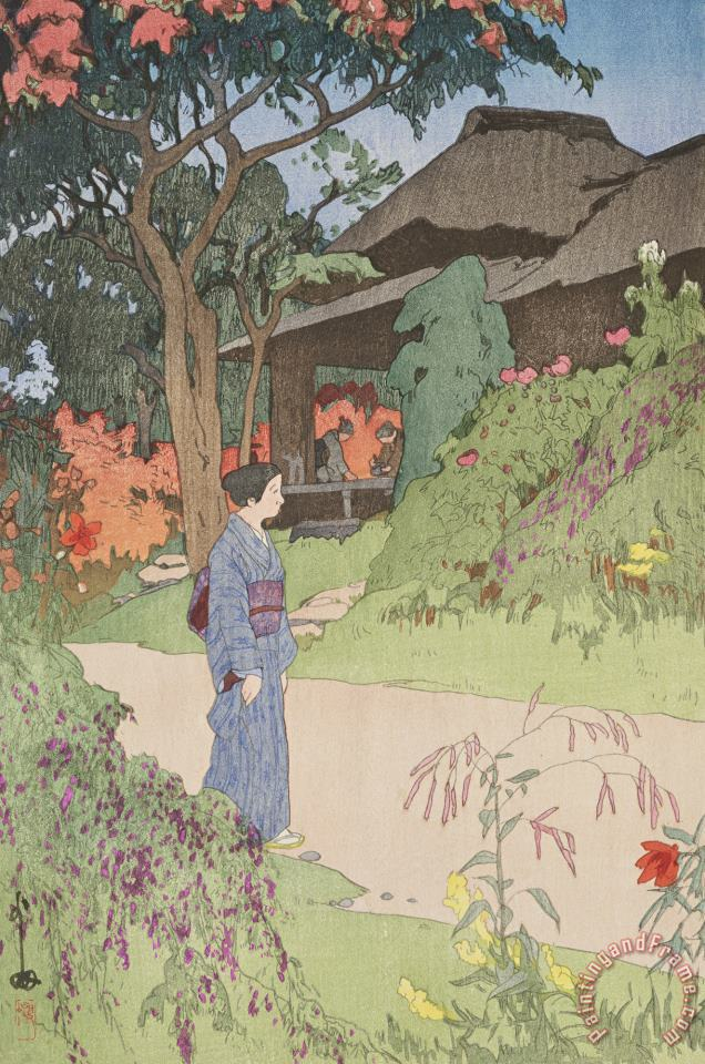 Hundred Flower Garden painting - Hiroshi Yoshida Hundred Flower Garden Art Print