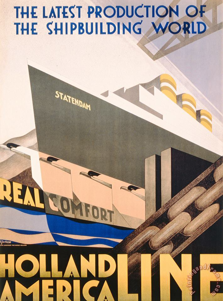Hoff Advertisement For The Holland America Line Art Painting