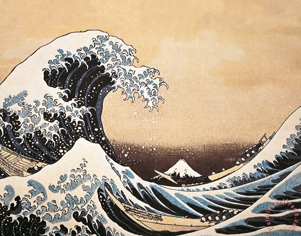 The Great Wave Of Kanagawa painting - Hokusai The Great Wave Of Kanagawa Art Print
