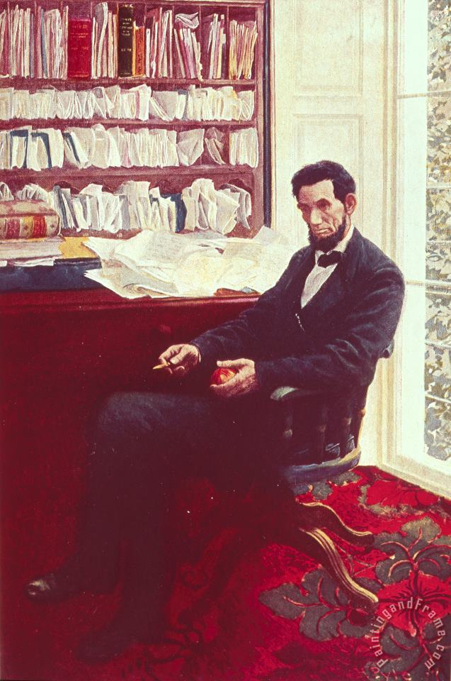 Portrait of Abraham Lincoln painting - Howard Pyle Portrait of Abraham Lincoln Art Print