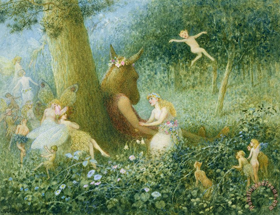 A Midsummer Night's Dream painting - HT Green A Midsummer Night's Dream Art Print
