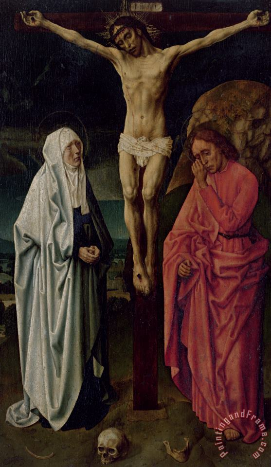 The Crucifixion painting - Hugo van der Goes The Crucifixion Art Print