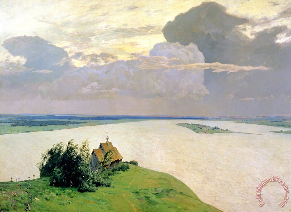 Above The Eternal Peace painting - Isaak Ilyich Levitan Above The Eternal Peace Art Print